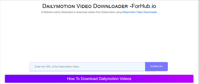 Daily Motion Video Downloader