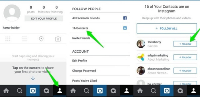 Find someone on Instagram by using Phone number