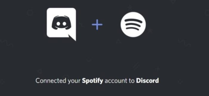 Spotify connected to Discord